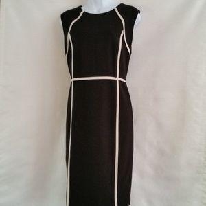 Talbots Black and White Dress Size 8